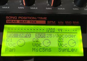 SP-808 Vocoder Realtime Controls