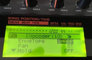 SP-808 Vocoder parameters