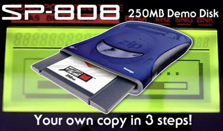SP-808 250MB Demo Zip Disk