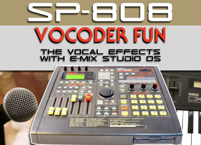 Roland SP-808 Groovesampler with Vocoder effect