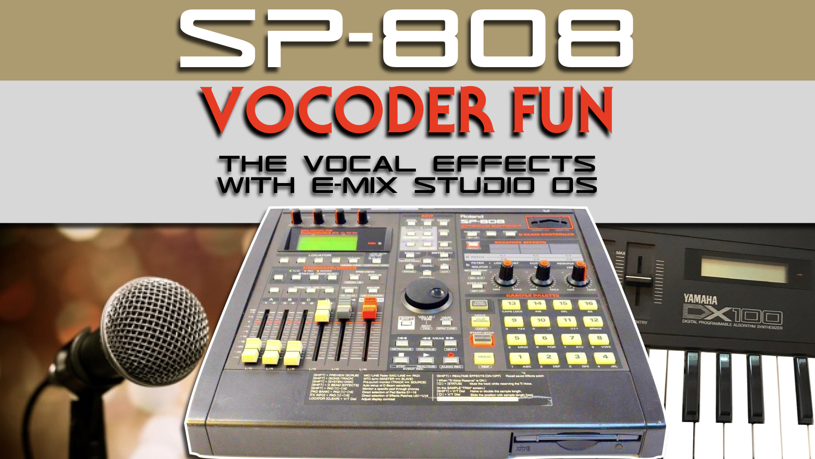 Roland SP-808 Groovesampler with Vocoder effect