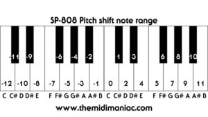 Pitch Shift Function Note Range