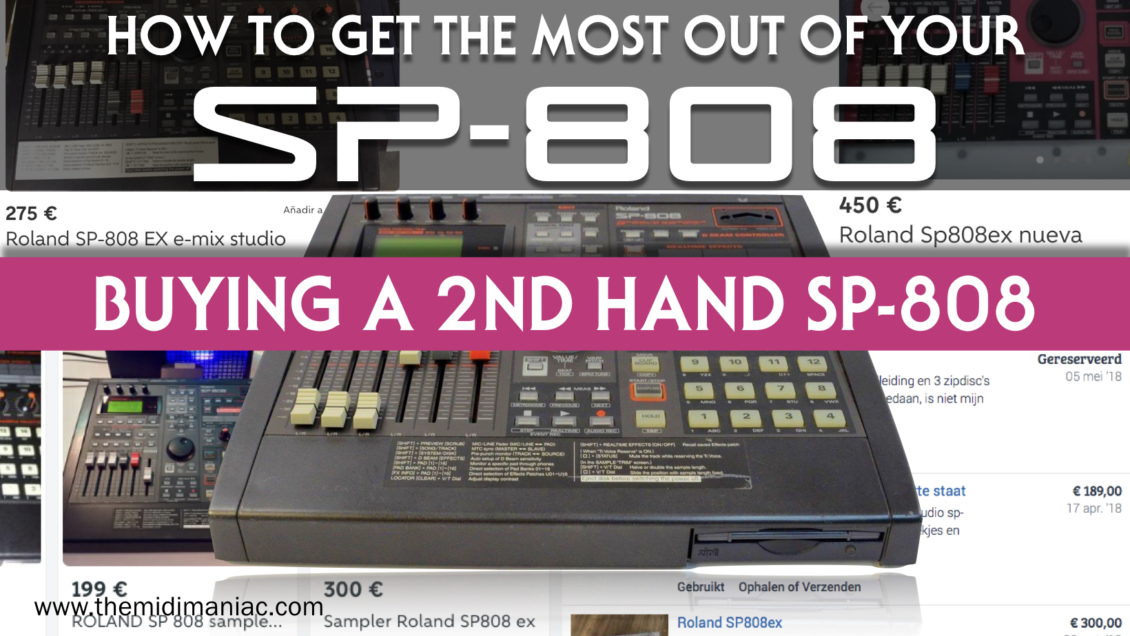 Tips for buying a second hand Roland SP-808