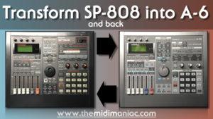 Transform Roland SP-808 to Roland A06